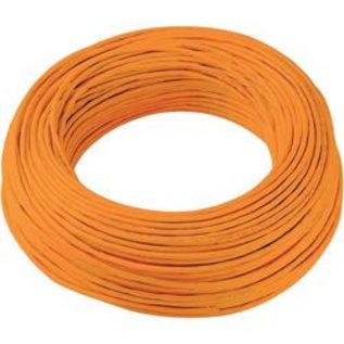 Schakeldraad 0,22mm 100 meter oranje/zwart