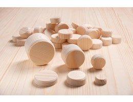 Houten schijfjes Grenenhout schijven - 25 st./pak, Ø 50 mm