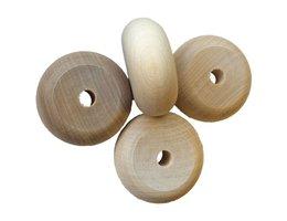 Houten wiel met zijprofiel - 10 st./pak, Ø 60 mm