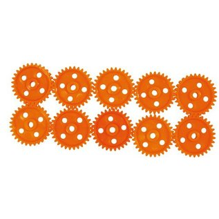Tandwielen (31 mm/30 tanden) oranje, 10 stuks