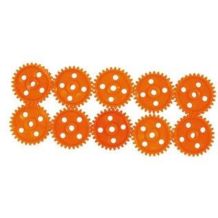Tandwielen (22 mm/20 tanden) oranje, 10 stuks