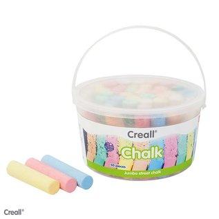 Creall CREALL-CHALK 50 stuks ass.