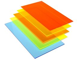 Multihouder PMMA translucent gekleurd 220x150x4