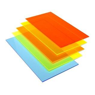 Sieraad gekleurd PMMA 30x30x3