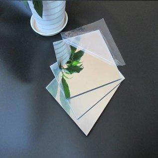Polystyreen Polystyreen spiegelplaat zilver op maat geknipt