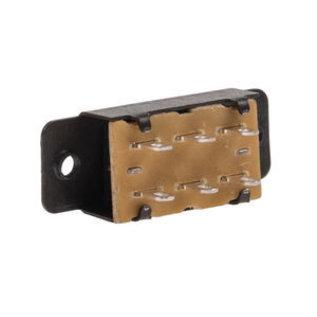 Mini schuifschakelaar 6 aansluitingen