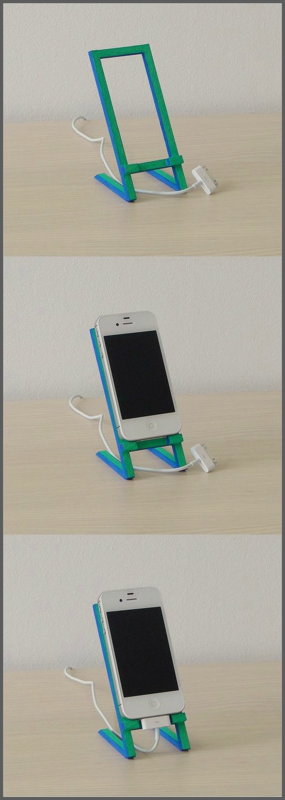 Mobielhouder van ijsstokjes