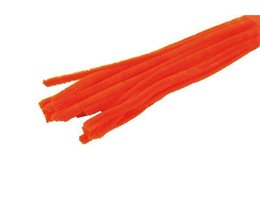 Chenilledraad Chenilledraad oranje 8mm x 30 cm 10 stuks