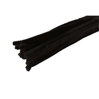 Chenilledraad chenilledraad zwart 8mm x 30 cm 10 stuks