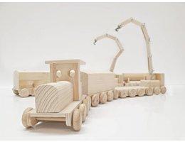 Greenbasic Houten trein 4-delige Set