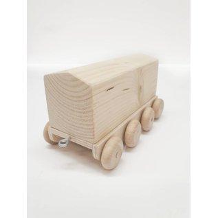 Houten trein wagon