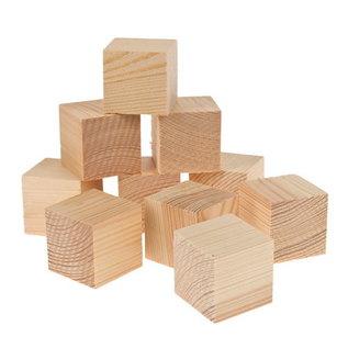 Grenenhout houten blokjes klein - 50st/pak 18 x 18 x 18mm