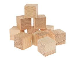 Grenenhout houten blokjes klein - 50st/pak 27 x 27 x 27mm