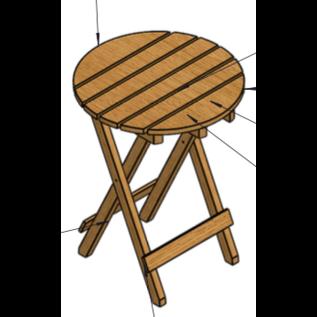 Klaptafel - vurenhout