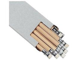 HB Potloden grijs met gum - 6 stuks