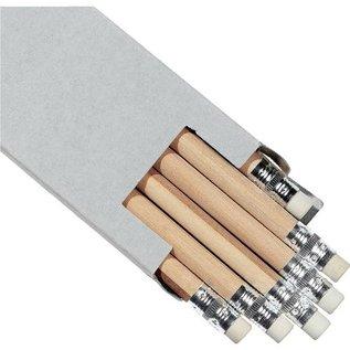 HB Potloden grijs met gum - 6 stuks HB