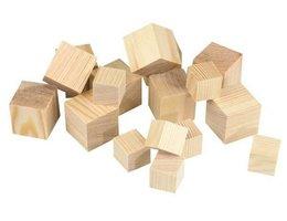 Houten blokjes Dobbelsteen Vurenhout 60x60x60