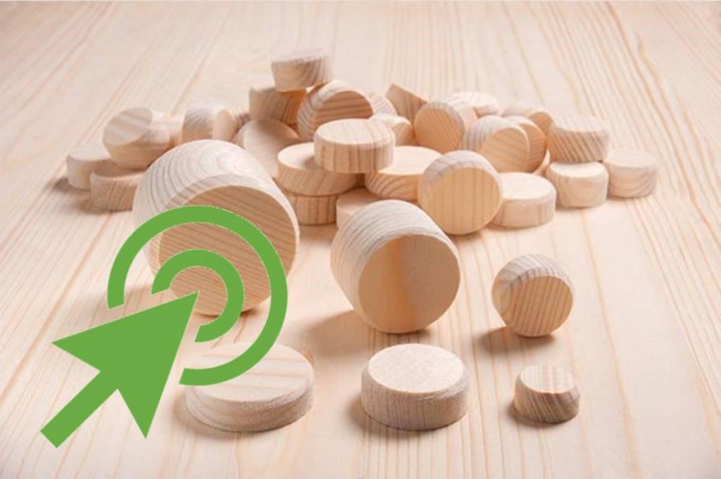 houten schijven
