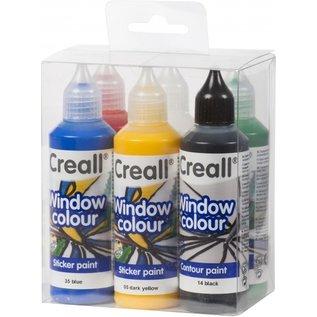 Creall CREALL-WINDOW COLOUR 6x 80ml ASS. (5+1)