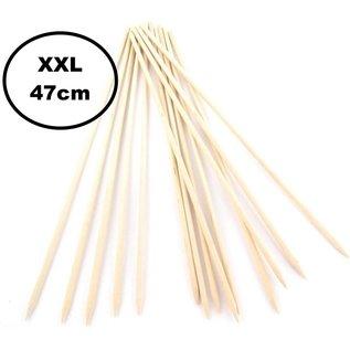 Bamboe spiezen Bamboe satestokken gepolijst 47 cm 5mm 50 stuks