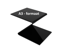 Plexiglas® Perspex zwart 3mm A3-formaat