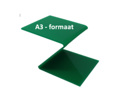 Plexiglas® Perspex groen 3mm A3 - formaat