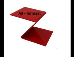 Plexiglas® Perspex rood 3mm A3-formaat