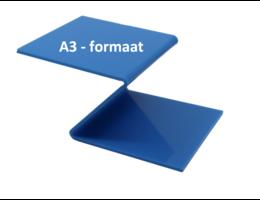 Plexiglas® Perspex blauw 3mm A3 - formaat
