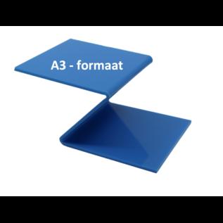 Plexiglas® Perspex -blauw - 3mm A3 - formaat