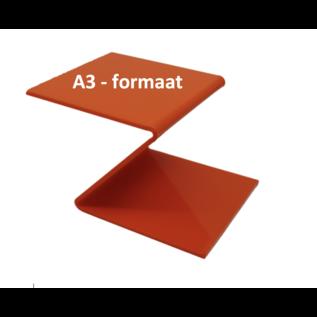 Plexiglas® Perspex  oranje 3mm A3 - formaat