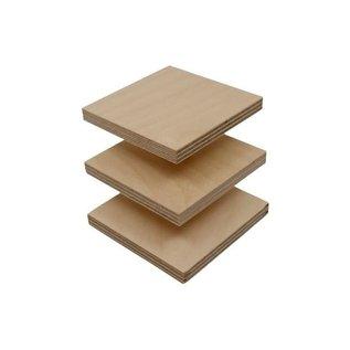 Greenbasic® Hout plankjes berken multiplex 18mm A4 formaat