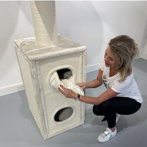 RHRQuality Arbre à chat Cat Tower Box Crème