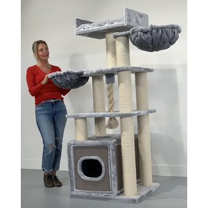 RHRQuality Arbre à chat Cat Relax PLUS Light Grey