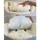 RHRQuality Fauteuil rond Ø50cm + Coussin Cream