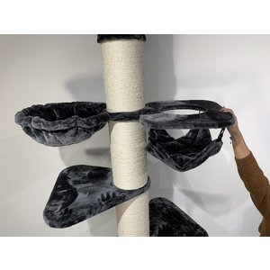 RHRQuality Arbre à chat Maine Coon Tower Crown Dark Grey
