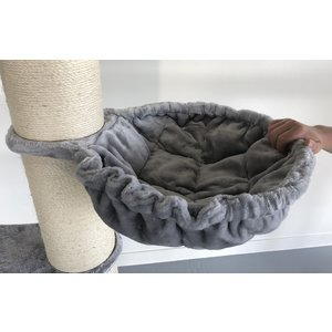 RHRQuality Arbre à chat Maine Coon Tower Crown Light Grey