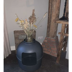 RHRQuality Flower XXL Caja de arena para gatos, Grey