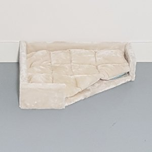 RHRQuality Triángulo Lounge Lying Place + Cojín - Corner Coon Cream