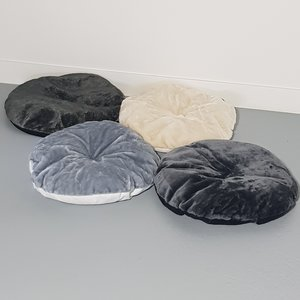 RHRQuality Coussin - Fauteuil rond Chartreux 60Ø Dark Grey