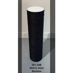 RHRQuality Poteau sisal 50x20 M10 BLACKLINE (1 Trous)