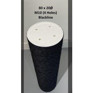 RHRQuality Poteau sisal 80x20 M10 BLACKLINE (4 trous)