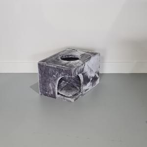 RHRQuality Casa de Rascador Catdream + Cojín Light Grey