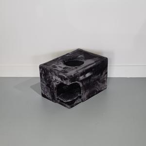 RHRQuality Casa de Rascador Catdream + Cojín Dark Grey