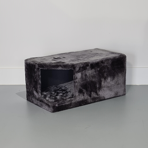 RHRQuality Cabane de Corner Coon + Coussin Dark Grey