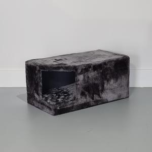 RHRQuality Casa de Rascador Corner Coon + Cojín Dark Grey