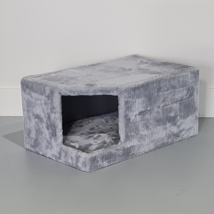 RHRQuality Casa de Rascador Corner Coon + Cojín Light Grey