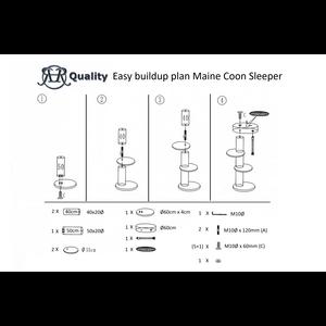 RHRQuality Rascador para gato Maine Coon Sleeper Cream