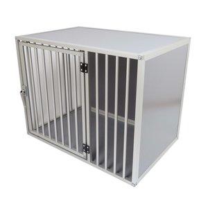 Hundos Chenil pour chiens avec porte sur le côté long Taille - M