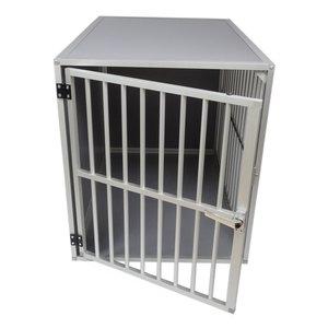 Hundos Jaula para perros con puerta en el lado corto Talla - L