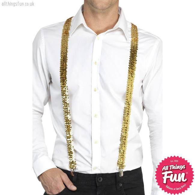 Smiffys Gold Sequin Braces